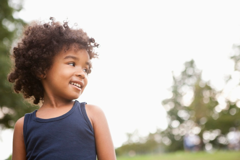 mixed race child